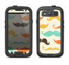 The Vintage Colorful Mustaches Samsung Galaxy S3 LifeProof Fre Case Skin Set