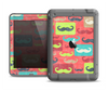 The Vintage Coral and Neon Mustaches Apple iPad Air LifeProof Fre Case Skin Set