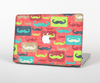 The Vintage Coral and Neon Mustaches Skin Set for the Apple MacBook Air 13""
