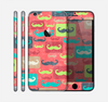 The Vintage Coral and Neon Mustaches Skin for the Apple iPhone 6 Plus