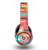 The Vintage Coral and Neon Mustaches Skin for the Original Beats by Dre Studio Headphones