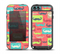 The Vintage Coral and Neon Mustaches Skin for the iPod Touch 5th Generation frē LifeProof Case