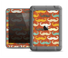 The Vintage Dark Red Mustache Pattern Apple iPad Air LifeProof Fre Case Skin Set