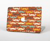 The Vintage Dark Red Mustache Pattern Skin Set for the Apple MacBook Air 13""