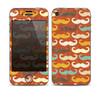 The Vintage Dark Red Mustache Pattern Skin for the Apple iPhone 4-4s
