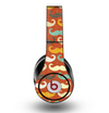 The Vintage Dark Red Mustache Pattern Skin for the Original Beats by Dre Studio Headphones