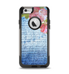 The Vintage Denim & Pink Floral Apple iPhone 6 Otterbox Commuter Case Skin Set