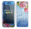 The Vintage Denim & Pink Floral Skin for the Apple iPhone 5c