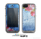 The Vintage Denim & Pink Floral Skin for the Apple iPhone 5c LifeProof Case