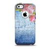 The Vintage Denim & Pink Floral Skin for the iPhone 5c OtterBox Commuter Case