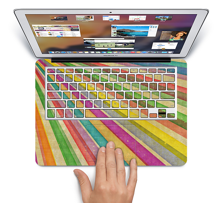 "The Vintage Downward Ray of Colors Skin Set for the Apple MacBook Pro 15"" with Retina Display"