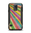 The Vintage Downward Ray of Colors Samsung Galaxy S5 Otterbox Commuter Case Skin Set
