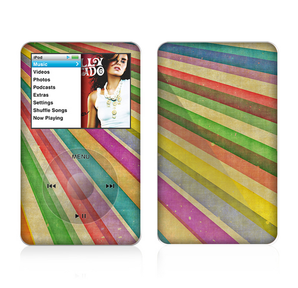 The Vintage Downward Ray of Colors Skin For The Apple iPod Classic