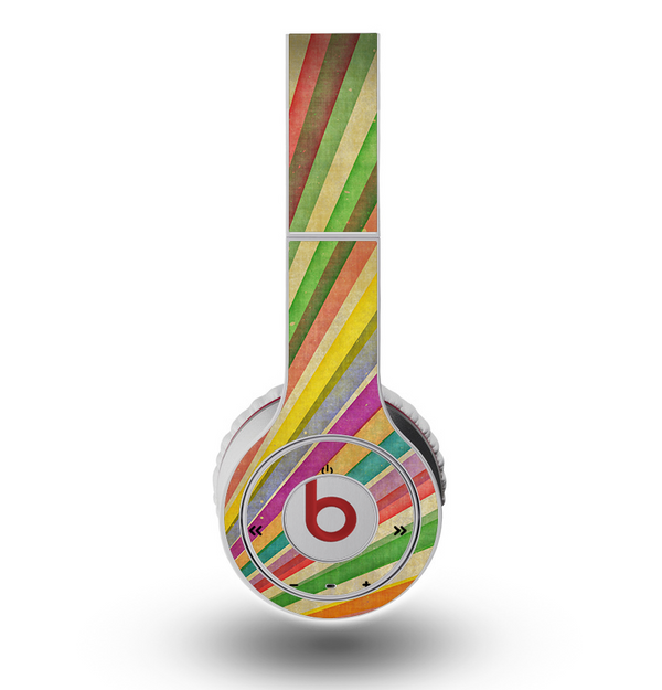 The Vintage Downward Ray of Colors Skin for the Original Beats by Dre Wireless Headphones