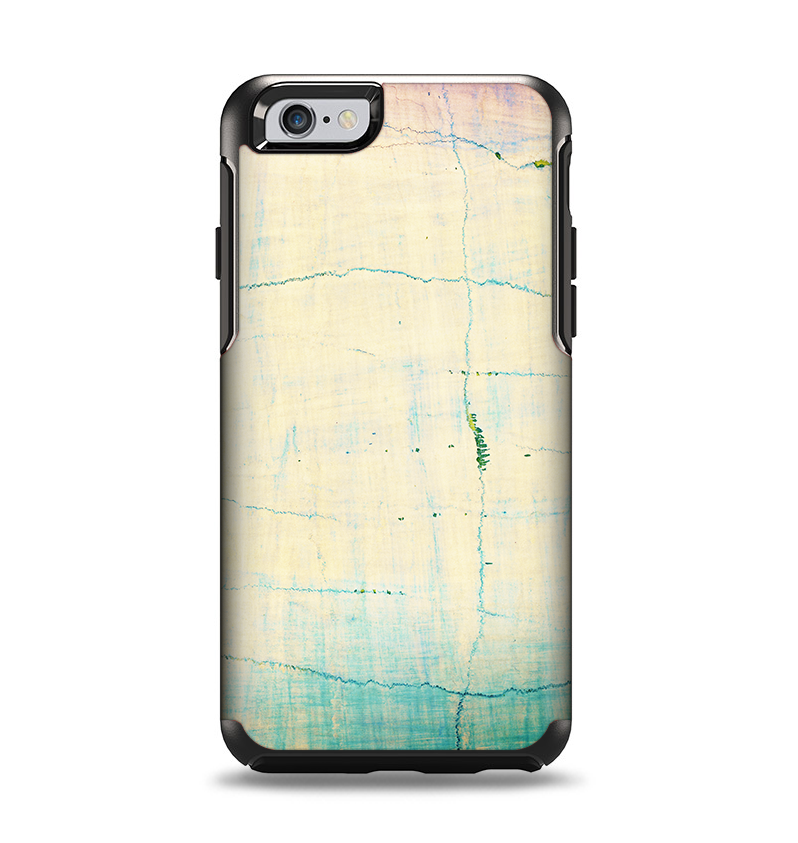 new products 77c25 86cf4 The Vintage Faded Colors with Cracks Apple iPhone 6 Otterbox Symmetry Case  Skin Set