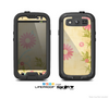 The Vintage Golden Flowers Skin For The Samsung Galaxy S3 LifeProof Case