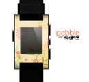 The Vintage Golden Flowers Skin for the Pebble SmartWatch