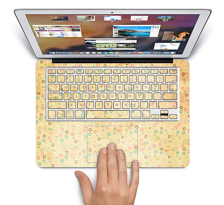 "The Vintage Golden Tiny Polka Dots Skin Set for the Apple MacBook Pro 15"" with Retina Display"