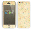 The Vintage Golden Tiny Polka Dots Skin for the Apple iPhone 5c