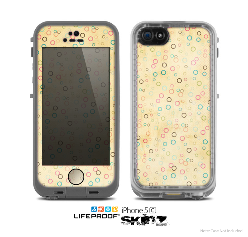 The Vintage Golden Tiny Polka Dots Skin for the Apple iPhone 5c LifeProof Case