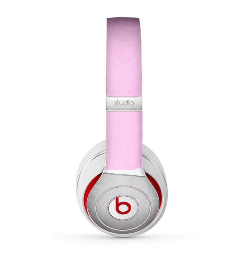 The Vintage Gray & Pink Texture Skin for the Beats by Dre Studio (2013+ Version) Headphones
