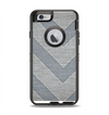 The Vintage Gray Textured Chevron Pattern Wide V3 Apple iPhone 6 Otterbox Defender Case Skin Set