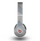 The Vintage Gray Textured Chevron Pattern Wide V3 Skin for the Beats by Dre Original Solo-Solo HD Headphones