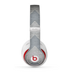 The Vintage Gray Textured Chevron Pattern Wide V3 Skin for the Beats by Dre Studio (2013+ Version) Headphones