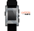 The Vintage Gray Textured Chevron Pattern Wide V3 Skin for the Pebble SmartWatch