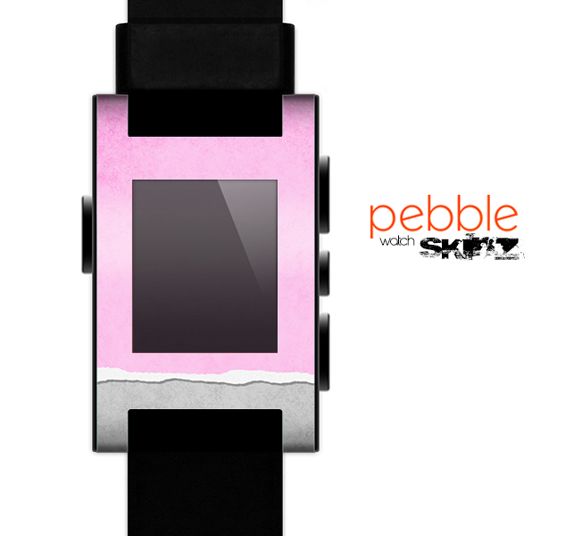 The Vintage Gray & Pink Texture Skin for the Pebble SmartWatch