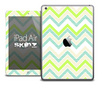 The Vintage Green Chevron V3 Skin for the iPad Air