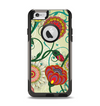 The Vintage Green Floral Vector Pattern Apple iPhone 6 Otterbox Commuter Case Skin Set