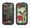 The Vintage Green Floral Vector Pattern Samsung Galaxy S3 LifeProof Fre Case Skin Set