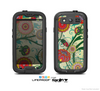 The Vintage Green Floral Vector Pattern Skin For The Samsung Galaxy S3 LifeProof Case