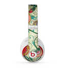 The Vintage Green Floral Vector Pattern Skin for the Beats by Dre Studio (2013+ Version) Headphones