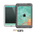 The Vintage Green Grunge Texture with Orange Skin for the Apple iPad Mini LifeProof Case