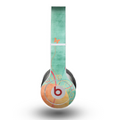 The Vintage Green Grunge Texture with Orange Skin for the Beats by Dre Original Solo-Solo HD Headphones