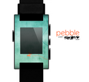 The Vintage Green Grunge Texture with Orange Skin for the Pebble SmartWatch