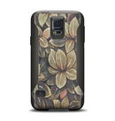 The Vintage Green Pastel Flower pattern Samsung Galaxy S5 Otterbox Commuter Case Skin Set