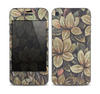 The Vintage Green Pastel Flower pattern Skin for the Apple iPhone 4-4s