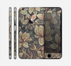 The Vintage Green Pastel Flower pattern Skin for the Apple iPhone 6 Plus