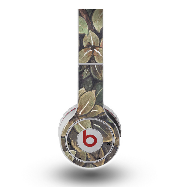 The Vintage Green Pastel Flower pattern Skin for the Original Beats by Dre Wireless Headphones