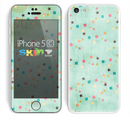 The Vintage Green Shapes Skin for the Apple iPhone 5c