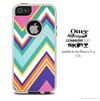The Vintage Green Sharp Chevron Skin For The iPhone 4-4s or 5-5s Otterbox Commuter Case