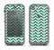 The Vintage Green & Tan Chevron Pattern Apple iPhone 5c LifeProof Nuud Case Skin Set