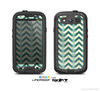 The Vintage Green & Tan Chevron Pattern Skin For The Samsung Galaxy S3 LifeProof Case