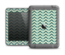 The Vintage Green & Tan Chevron Pattern Apple iPad Air LifeProof Fre Case Skin Set