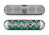 The Vintage Green & Tan Chevron Pattern Skin for the Beats by Dre Pill Bluetooth Speaker