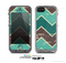 The Vintage Green & Tan Chevron Pattern V2 Skin for the Apple iPhone 5c LifeProof Case