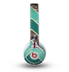 The Vintage Green & Tan Chevron Pattern V2 Skin for the Beats by Dre Mixr Headphones